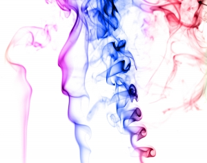 Incense Smoke color rainbow